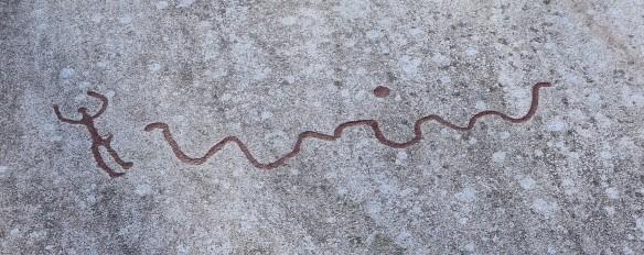 bronsealder slange mann